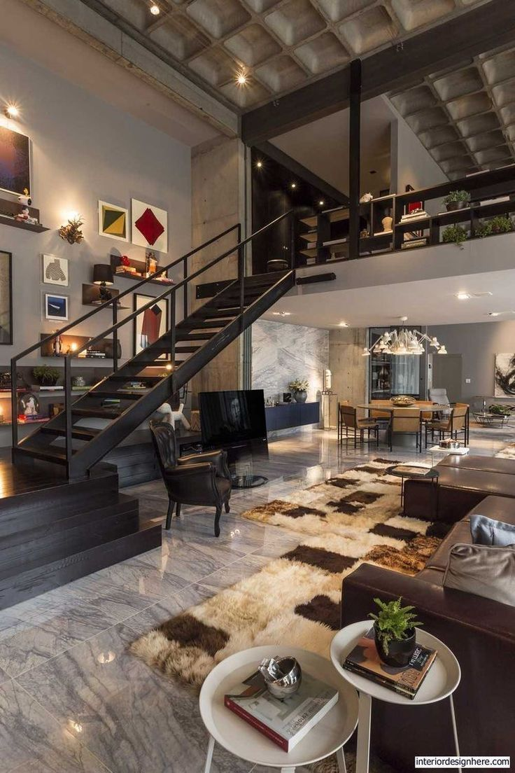 Luxury Industrial Loft Industrial Style Living Room House