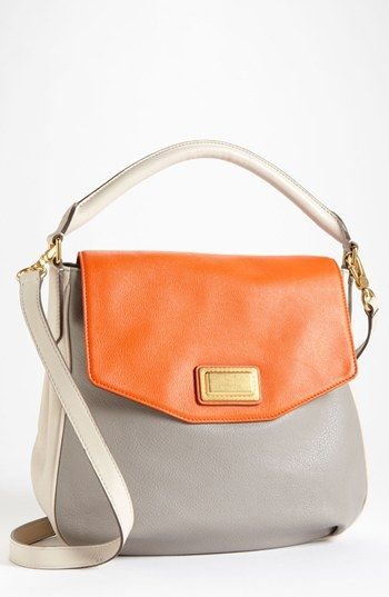 MARC BY MARC JACOBS Leather Flap Hobo available at #Nordstrom Very pretty summertime bag. The crossbody helps so that you can remain hands and arms free. Great color combination as well!