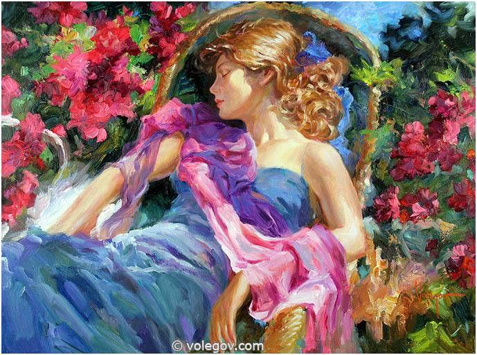 Sensitive images: Women by a Russian painter Vladimir Volegov - 05