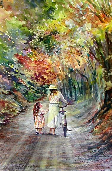 """""""Passing Thru"""" original watercolor by Shelley Cannon Frederick"""
