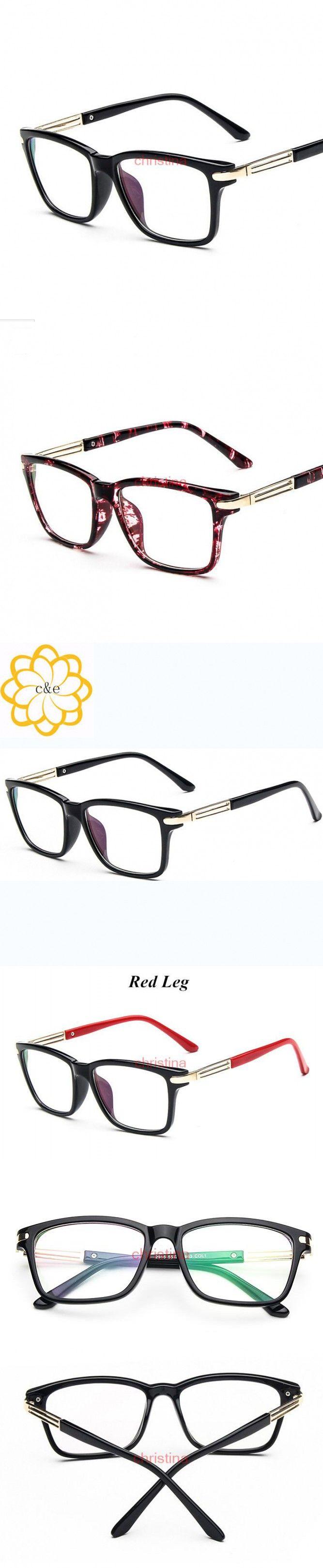 Fashion Eyeglasses For Women Clear Lens Plain prescription Eyewear Glasses Square Frame Lentes Opticos oculos de grau femininos $10.57