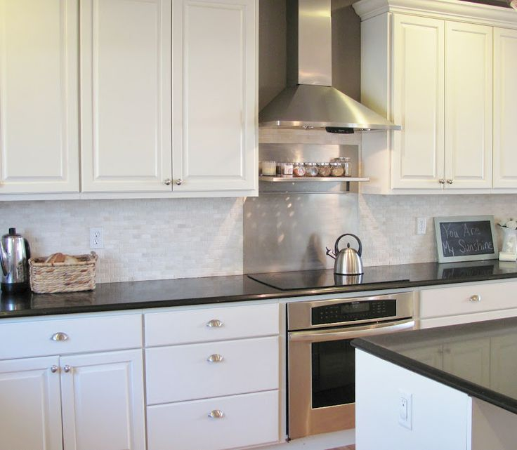 White Cabinets Gray Subway Tile Kashmir White Granite: The Kitchen Before & After Texas Leather