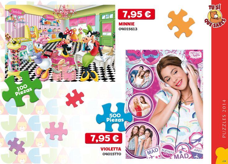 Para que te entretengas durante horas, completando los #puzzles más #divertidos de #Minnie y @Violetta_Disney