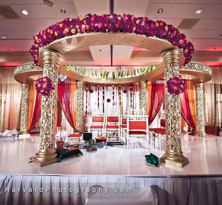 Indian Wedding Mandap   (photo by: http://www.harvardphotography.com) (decor by: http://2createdesigns.com)