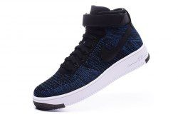 b628b467a92b Nike AF1 Ultra Flyknit Mid High Blue White Men s Sneakers shoes 817420-400