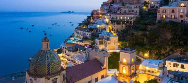 Gentiloni in vacanza ad Amalfi