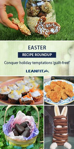 Decorate your healthy creations to form kid-friendly Easter bunnies, bright orange carrot sticks for pre workout energy, or colorful Easter eggs to decorate your home. Plenty of substitutions can be made to fit your dietary needs and preferences.