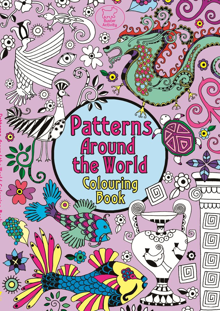 Patterns Around The World Colouring Book