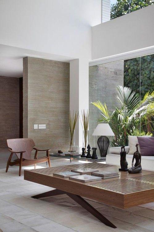 Mooie salontafel!   Rio de Janeiro   Brazil   Home!   Contemporary home decor, House design, Natural home decor