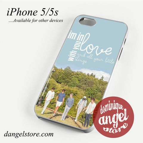 One Direction Lyrics I'm in love with you Phone case for iPhone 4/4s/5/5c/5s/6/6 plus