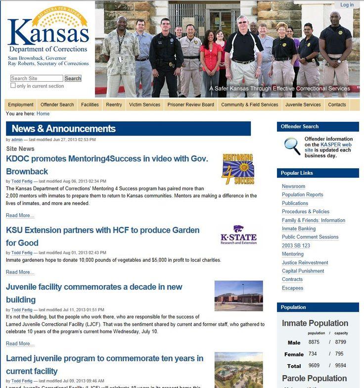 Kansas Department of Corrections http//www.dc.state.ks.us