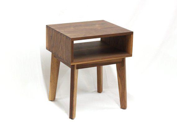 d5ef858114353 Modern Walnut Side Table