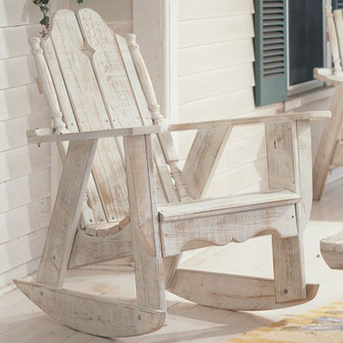 Handcrafted Indoor/outdoor Pine Rocking Chair With An Ergonomic Seat.  Product: Rocking ChairConstruction Material: WoodColor: White WashFeatures:  ... Nice Design