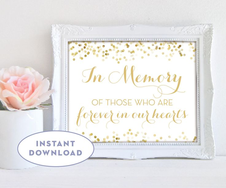 """Printable Loving Memory Sign INSTANT DOWNLOAD Wedding Remembrance Sign White Gold 10x8"""" Digital Sign pdf jpg The Catalina by SimplyFetchingPaper on Etsy https://www.etsy.com/listing/500757746/printable-loving-memory-sign-instant"""