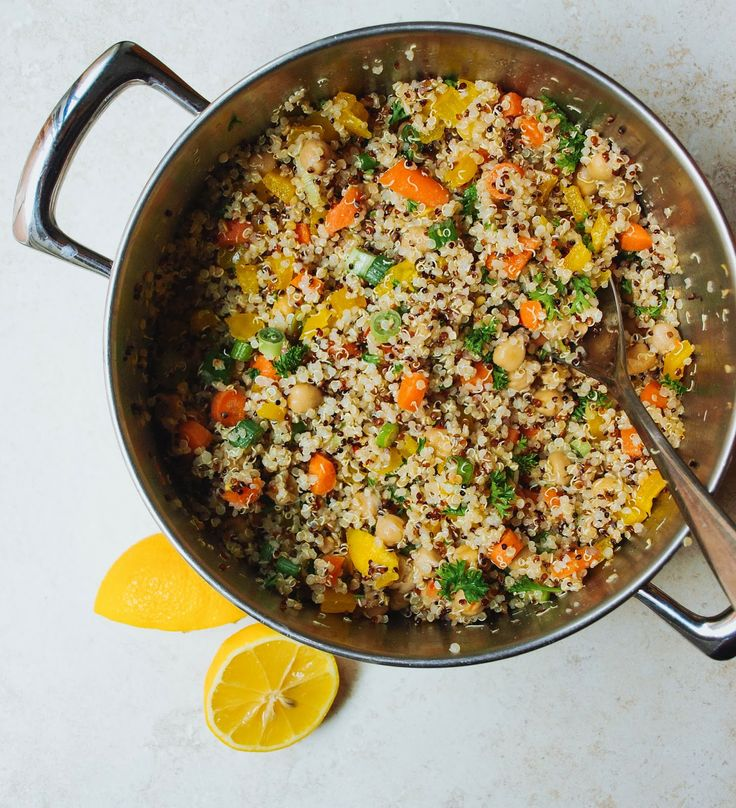 Quinoa + Chickpea Salad | Salads | Pinterest