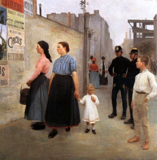 Karoly Ferenczy (1862 – 1917, Hungarian) Before The Posters