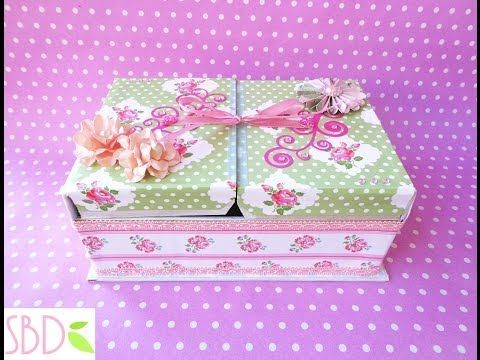 Scrap tutorial: Scatola Scrap Porta bustine da Tè - Tea bags holder Box - YouTube