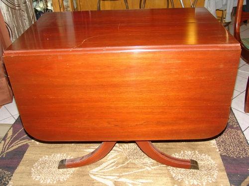 Vintage Duncan Phyfe Fife Drop Leaf Table 3 Matching