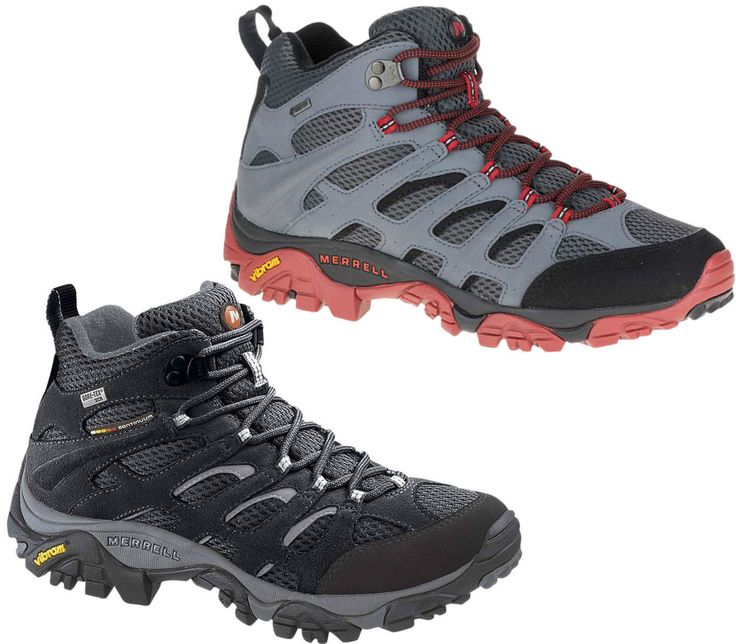 Merrell Waterproof Walking Boots. Available in two colours. Perfect for hiking this summer. http://www.shoestationdirect.co.uk/merrell-moab-mid-mens-gore-tex-waterproof-hiking-walking-vibram-boots/