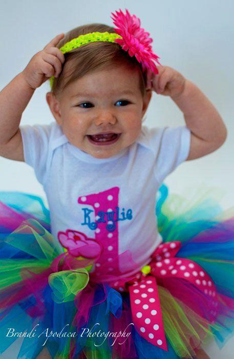 Baby Girl 1st Birthay Tutu SetParty by ChristiCreations on Etsy, $58.00