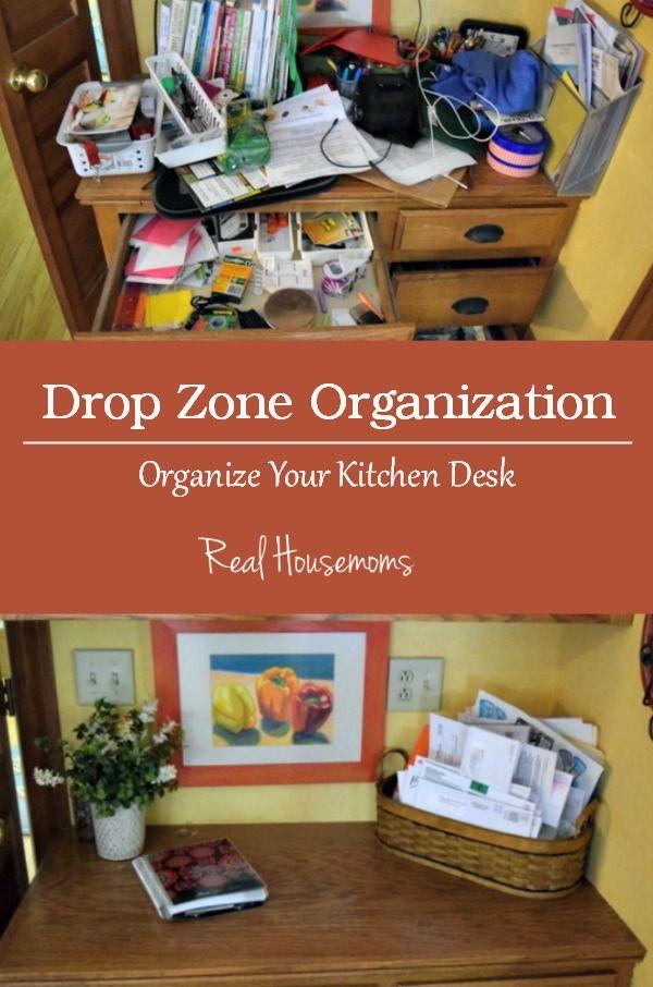 Kitchen Desk Organization | Real Housemoms