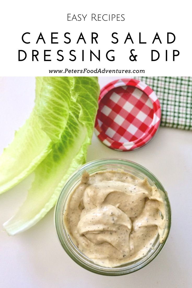 Homemade Thick and Creamy Caesar Salad Dressing. So Easy To Make with fresh garlic, anchovies, dijon, eggs, olive oil and more. A Little Goes A Long Way. Classic Caesar Salad Dressing From Scratch