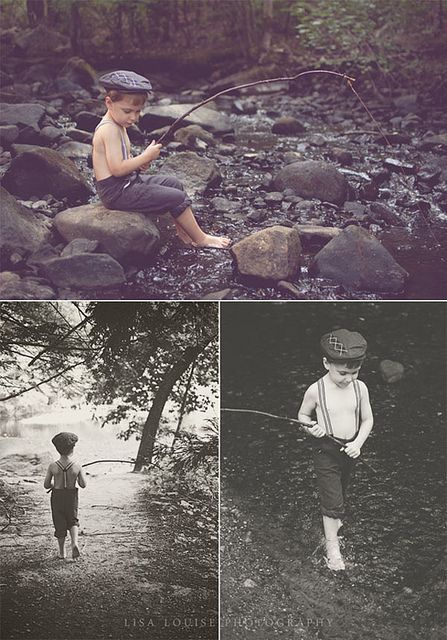 4-year-old boy stylized fishing photo shoot! I WILL be doing this with my Roos when they are old enough!