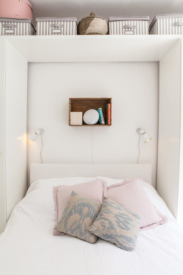 16 Clever Space Saving Solutions For Small Bedrooms Crazyforus 16 Clever Space Saving So In 2020 With Images Small Bedroom Bedroom Inspirations Small Bedroom Storage