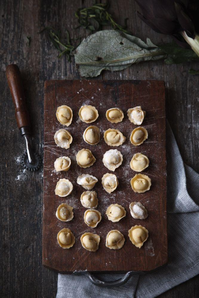 Pasta fresca Ravioli con carciofi e mozzarella di bufala affumicata-5