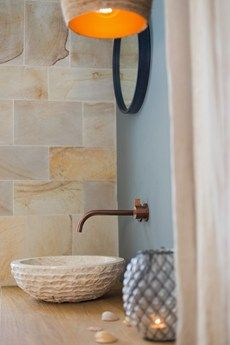 Raw Copper taps from the Piet Boon collection give warm vibes to the bathrooms and kitchen