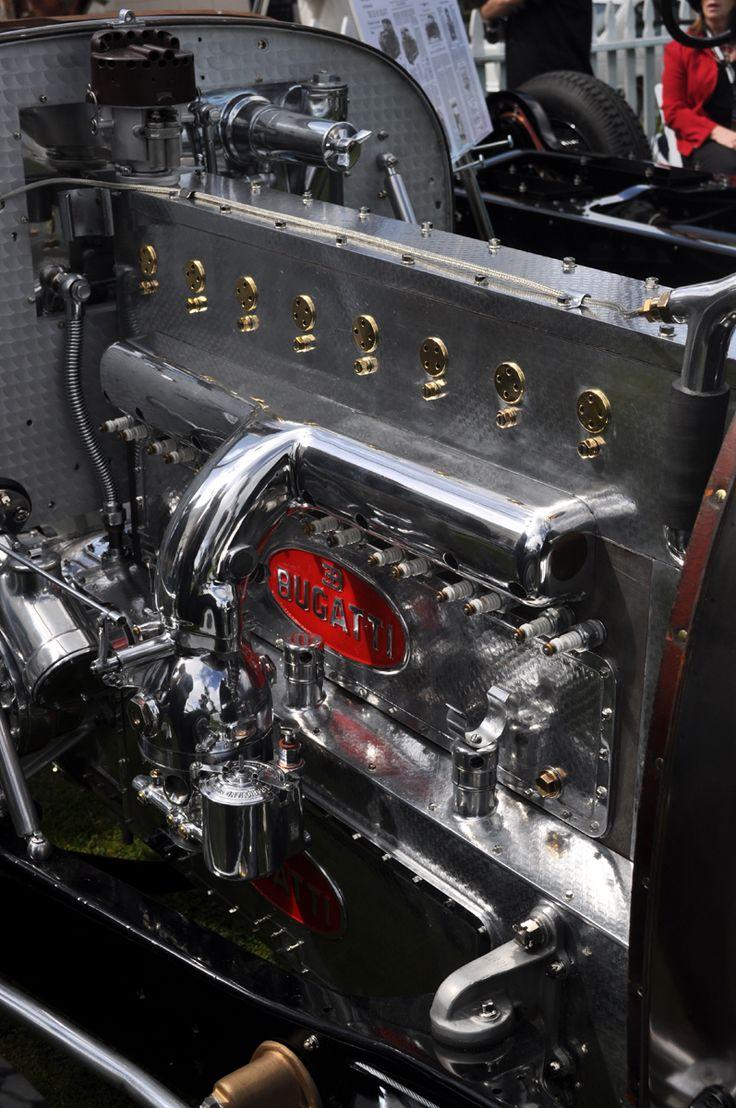 This is a Bugatti 16 cylinder Engine.