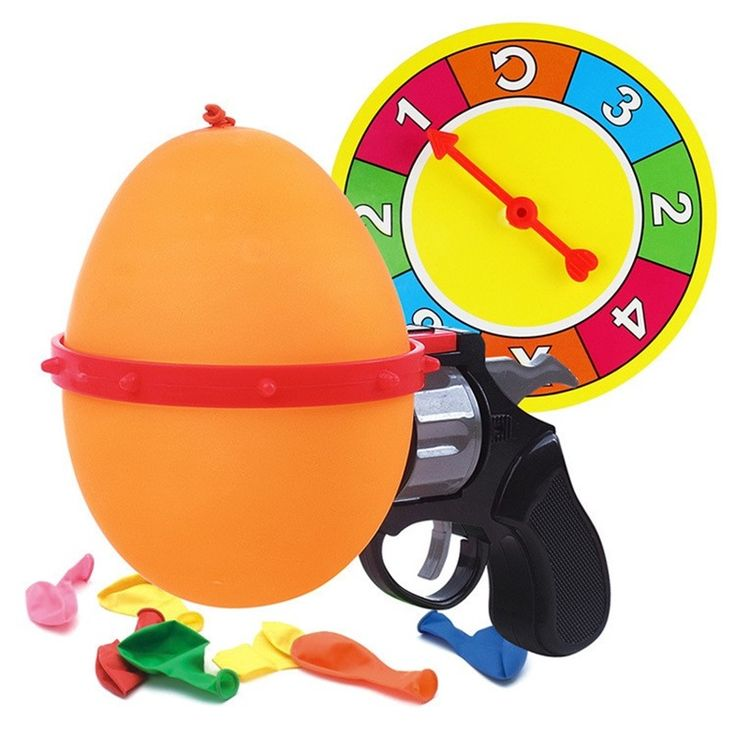 Russian Roulette Model Balloon Gun Lucky Roulette Fun Party Activities Family Interactive Parenting Game Funny Tricky Toys