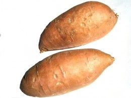 Look for nice firm potatoes with a reddish brown flesh and no blemishes.