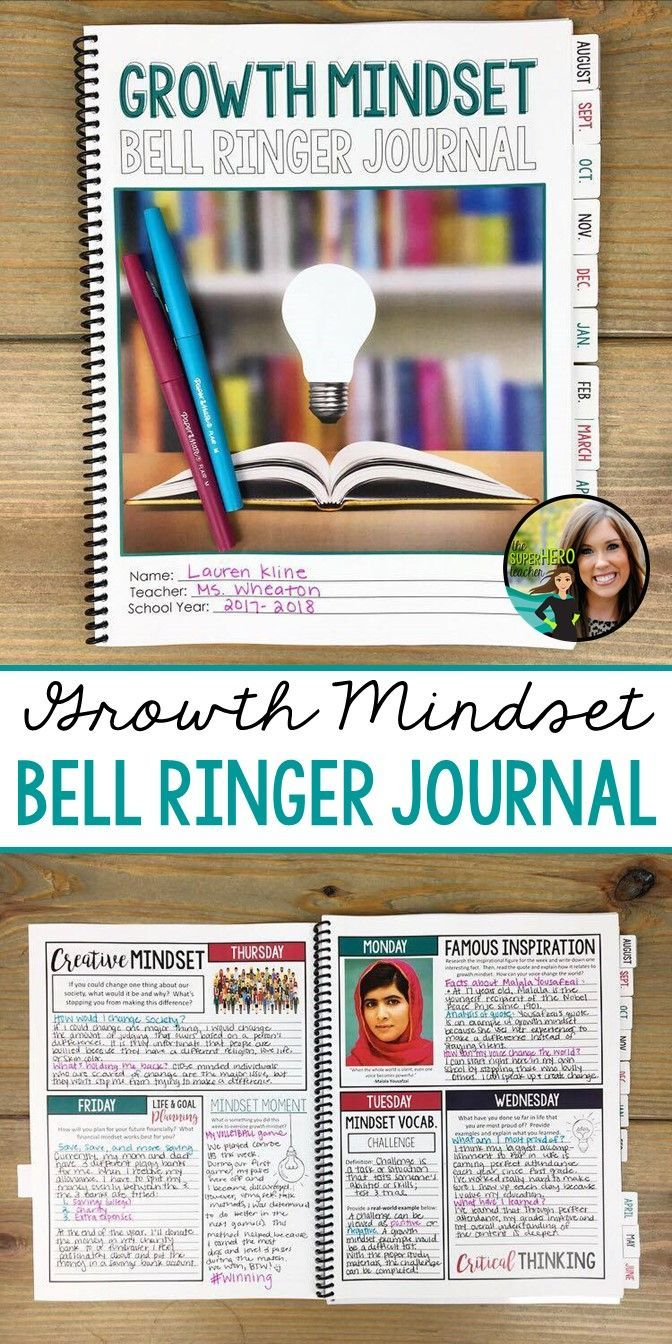 Growth mindset bell ringer journal | Career readiness | 275 journal prompts for the entire school year | middle and high school | Grades 6-12 | AVID | life planning and goal setting
