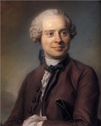 Jean Le Rond d'Alembert (1717-1783), mathematician, philospher and writer - Maurice Quentin de La Tour, 1753