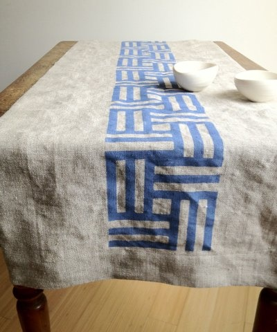 """South Street Linen // A little shop just opened up around the corner from us here in Portland, Maine. They make lovely linen goods. We especially love this """"Basket Weave"""" table runner. So glad to have these fellow fiber enthusiasts in the neighborhood!"""