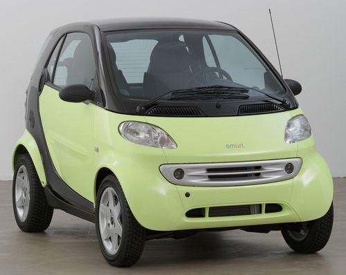 smart car on display moma