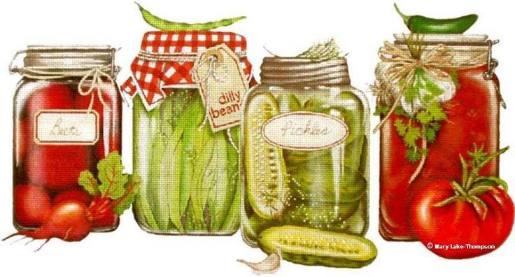 Melissa Shirley Designs | Hand Painted Needlepoint | Canned Veggies © Mary Lake Thompson