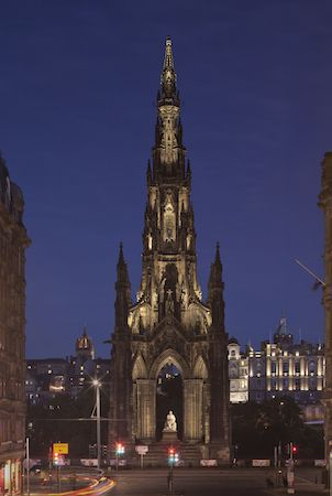 Scott Monument, Edinburgh - Lighting Design by KSLD Photo by David Barbour