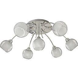 Deckenleuchte Bovary Aus Metall in Silber - Chromfarben, MODERN, Glas/Metall (65/65/20cm) - MÖMAX modern living