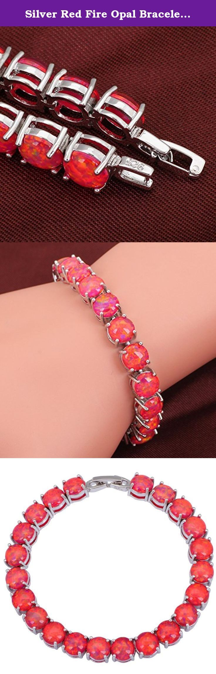 Silver Red Fire Opal Bracelets Bangles for Teen Girls Pulseiras Femininas 19.5cm 7.67inch B432. Brand DANA Metal Silver Main Stone Opal 5*7 mm Main Color Red Weight 18.9 Grams (Opal & Silver) Bracelets Perimeter 195mm Quantity 1 pcs Country of Manufacture Chian Environmental Standards Europe $ Nickel,Lead,Cadmium free 1 inch=2.54cm=25.4mm.