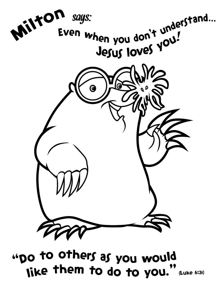 weird coloring pages - photo#17