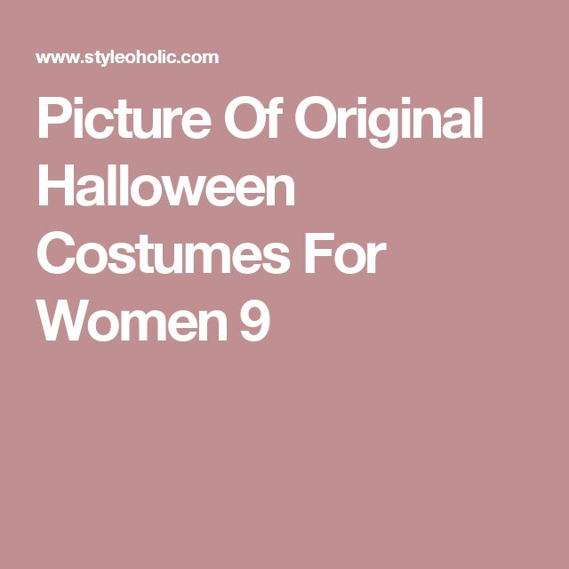 Picture Of Original Halloween Costumes For Women 9