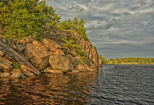 Rocks, Trees And Water (Typical Northern Ontario) | Shot on … | Flickr