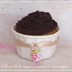 Chocolade en kokos cupcakes