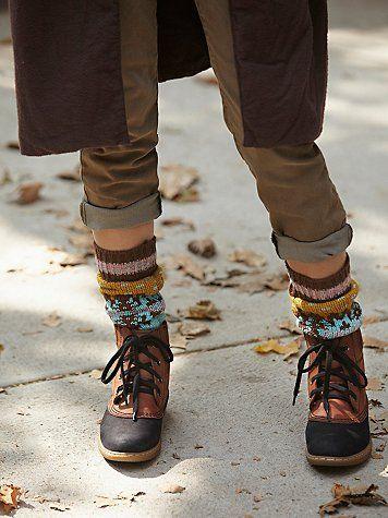 Chunky colorwork socks