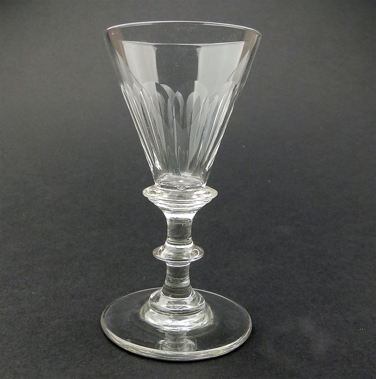 Antique Glass : A good small Victorian Wine Glass C.19thC