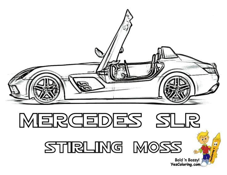 Super Fast Cars Coloring! Mercedes-Benz SLR McLaren Stirling Moss! Wow!