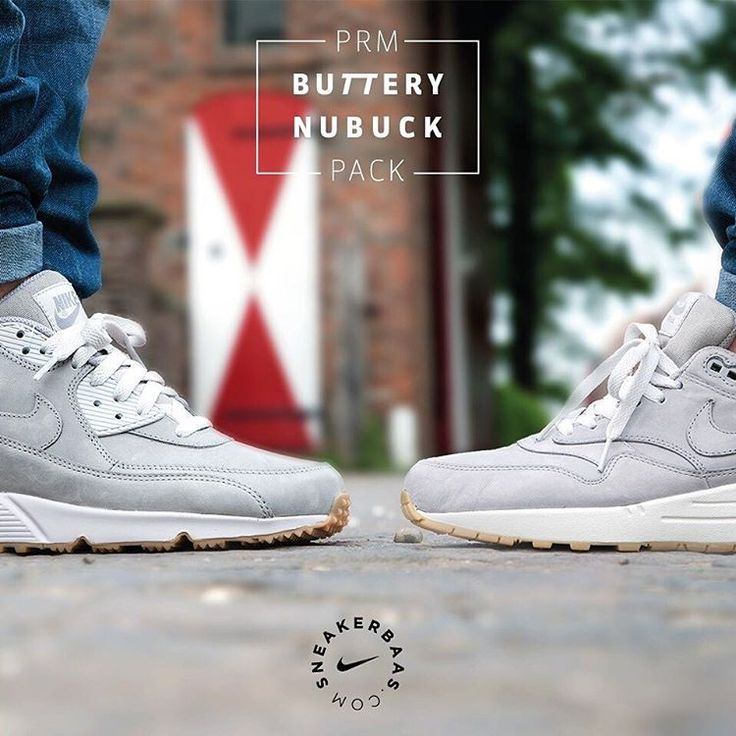 #nike #nikePRM #airmax1 #airmaxone #AM1 #butterynubuck #nubuck #sneakerbaas #baasbovenbaas  Nike Air Max PRM 'Buttery' Nubuck-Nike proceeds to use the premium nubuck but now in a grey colorway. The silhouettes of the Nike Air Max 1 and 90 are equipped with buttery nubuck and slick gumsoles. A crisp, white midsole splits things up at the bottom.  Now online available   Men Sizes 38.5 – 46 EU  Nike Air Max 1 PRM: 139.95 EU Nike Air Max 90 PRM: 144.95 EU