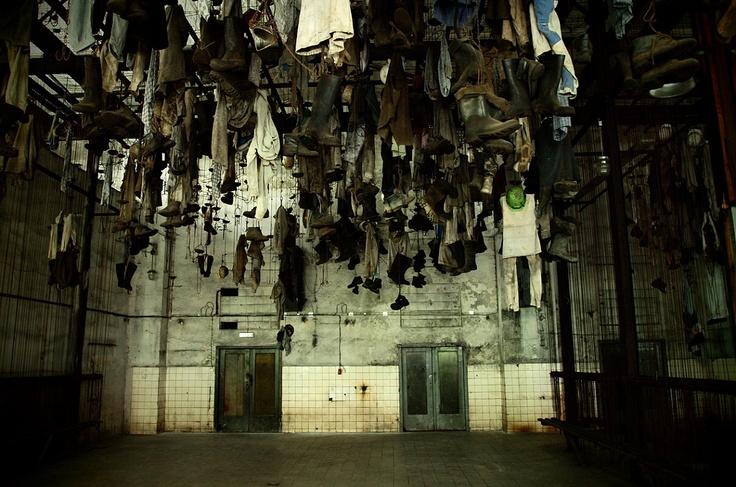 Ostrava, dressing room, Landek mining museum